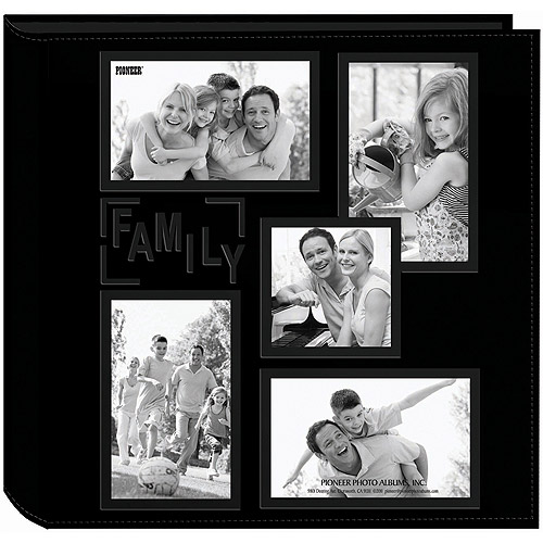 5-Up Collage Frame Sewn Embossed Photo Album,