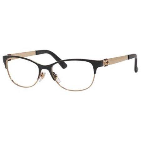 Optical Frame Gucci Metal Gold Black Gg 4281 4z6 Walmart