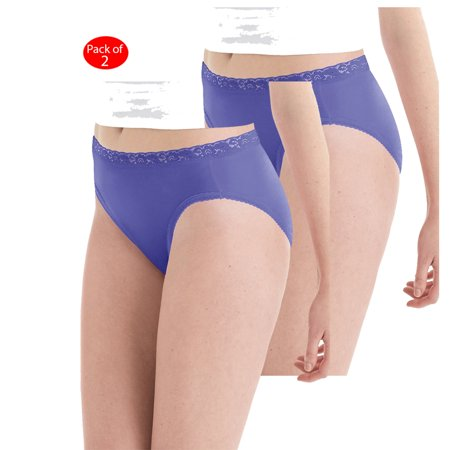 10edfa82401f Hanes - Hanes Women's Nylon Hi-Cut Panties 6-Pack, Color: Assorted, Size:  10 --- PACK OF 12 (Women's Panties - Original Company Packing) - Walmart.com