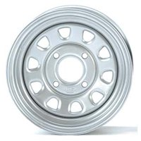 ITP Delta Steel Wheel 12x7 - 4/110 - 5+2 Silver  #015807