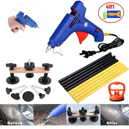 Paintless Dent Repair Tools - Car Dent Removal Kit Bridge Dent Puller Safe Glue Sticks Pops a Dent Tool for Car Dent Door Ding Hail Dent (Best Car Dent Remover)