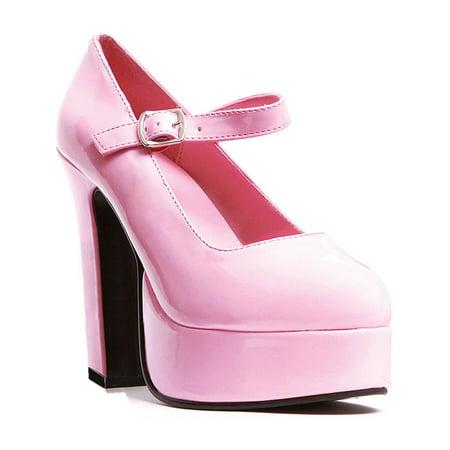 0a1098b2af5 SummitFashions - 5 Inch Women s Sexy Mary Jane Shoes Mid Platform Chunky  Heel Shoe - Walmart.com