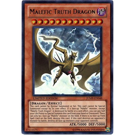Yu-Gi-Oh Shonen Jump Single Card Ultra Rare Malefic Truth Dragon