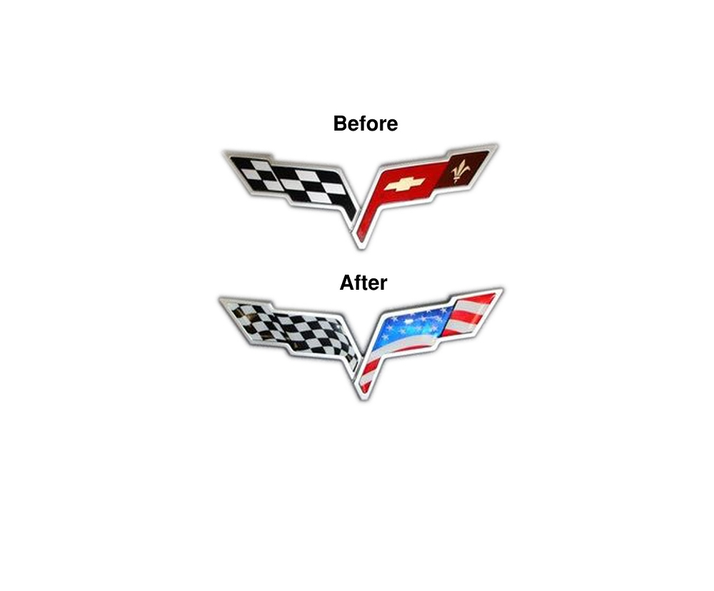 C6 Corvette 2005 2013 Usa Flag Emblem Overlay C7 Painted Fuse Box Cover
