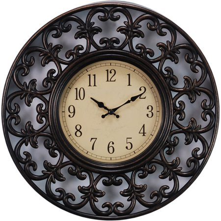 Mini Clock Antique (Kiera Grace Decorative Lattice Design 11