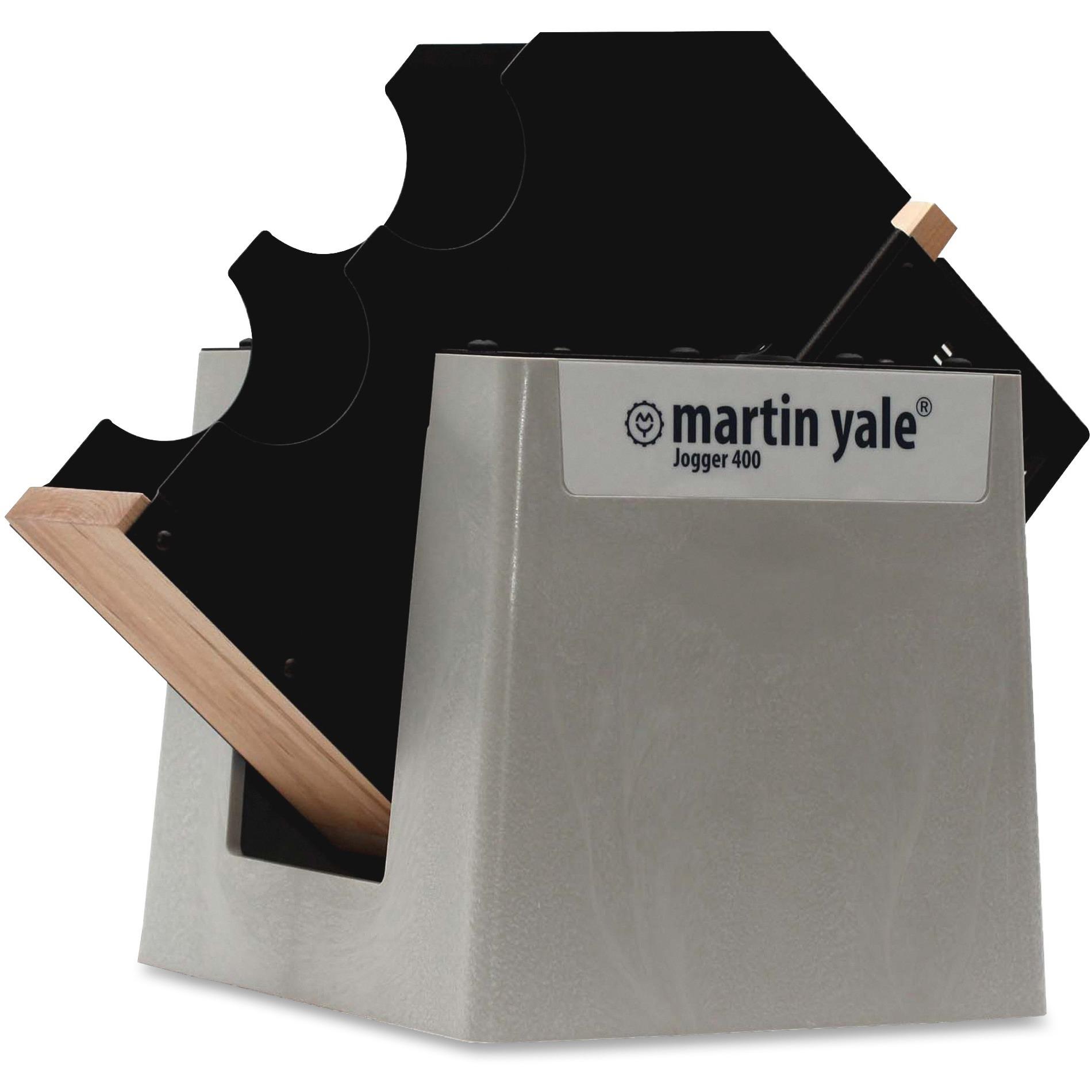 Martin Yale, PRE400, Premier Tabletop Paper Jogger, 1 Each, Gray