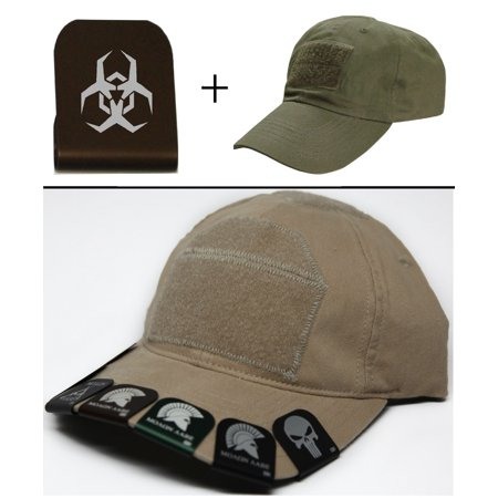 Malware Toxic Hazard Symbol Cap Crown Rim Brim It Brown   Olive Drab Green Hat