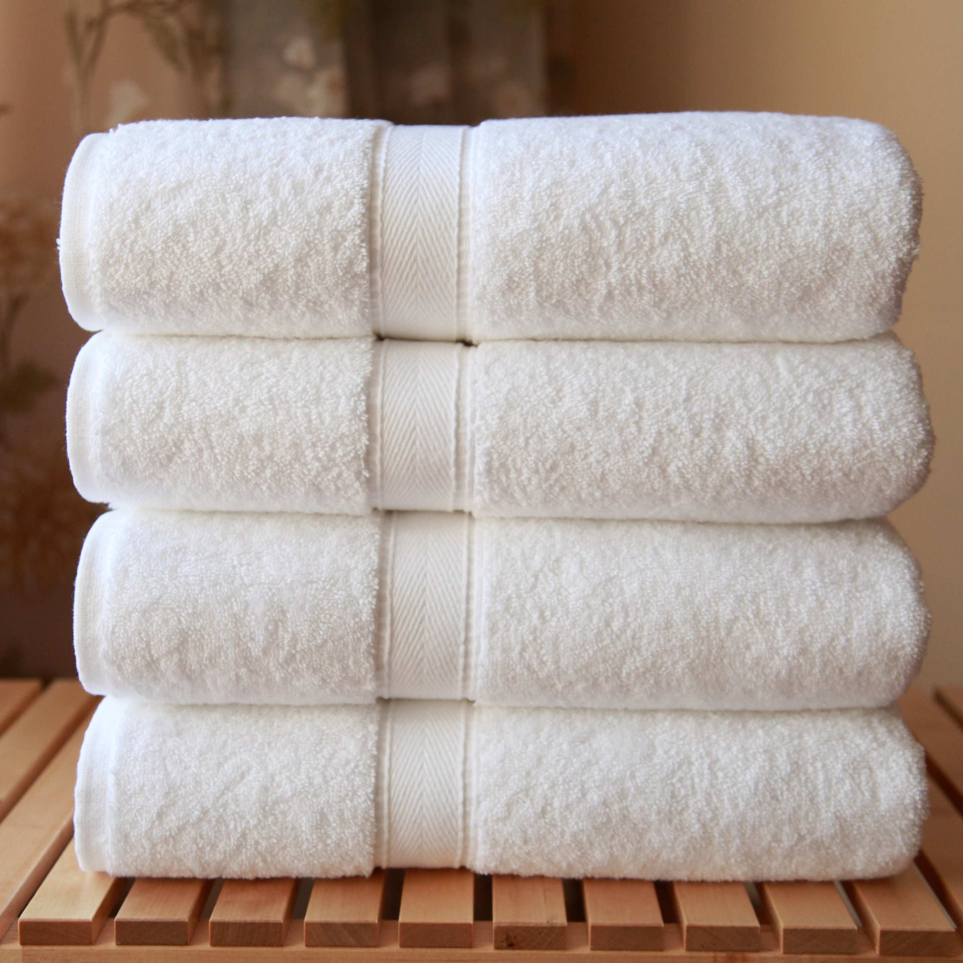 Luxury Hotel & Spa Collection 100% Turkish Cotton Bath Towels (Set of 4)