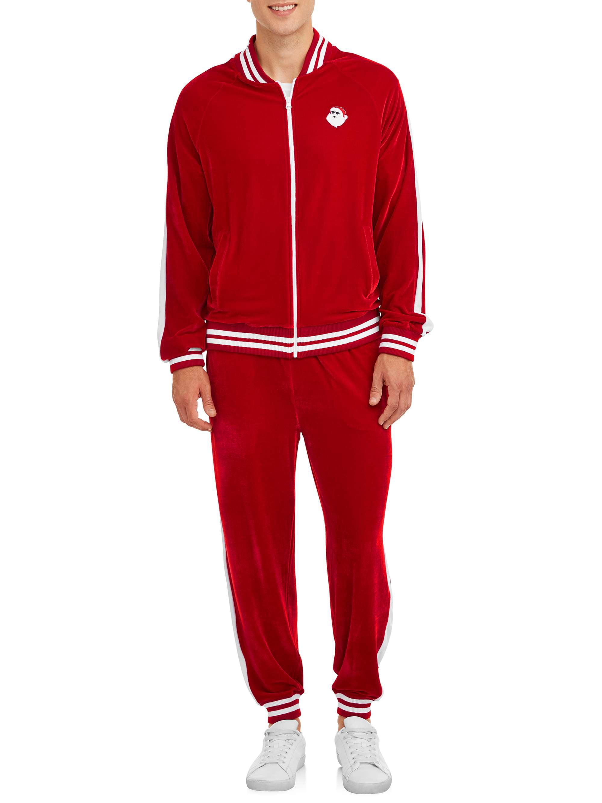 Men/'s Tracksuit 2 Piece Jacket /& Pants Set Jogging Athletic Full Zip Track Suit