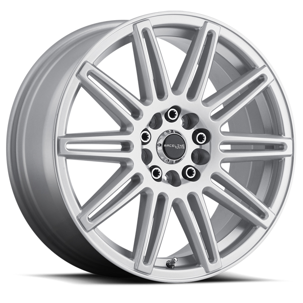"17"" Inch Raceline 143S Cobalt 17x7.5 5x110/5x115 +40mm Silver Wheel Rim"
