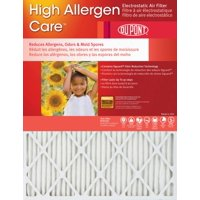 20x25x1 Dupont High Allergen Care MERV 11 Air Filters (2 Pack)