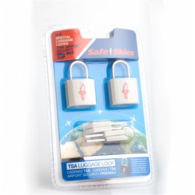 Safe Skies No. 203a TSA-Approved padlocks double-set - Light Grey