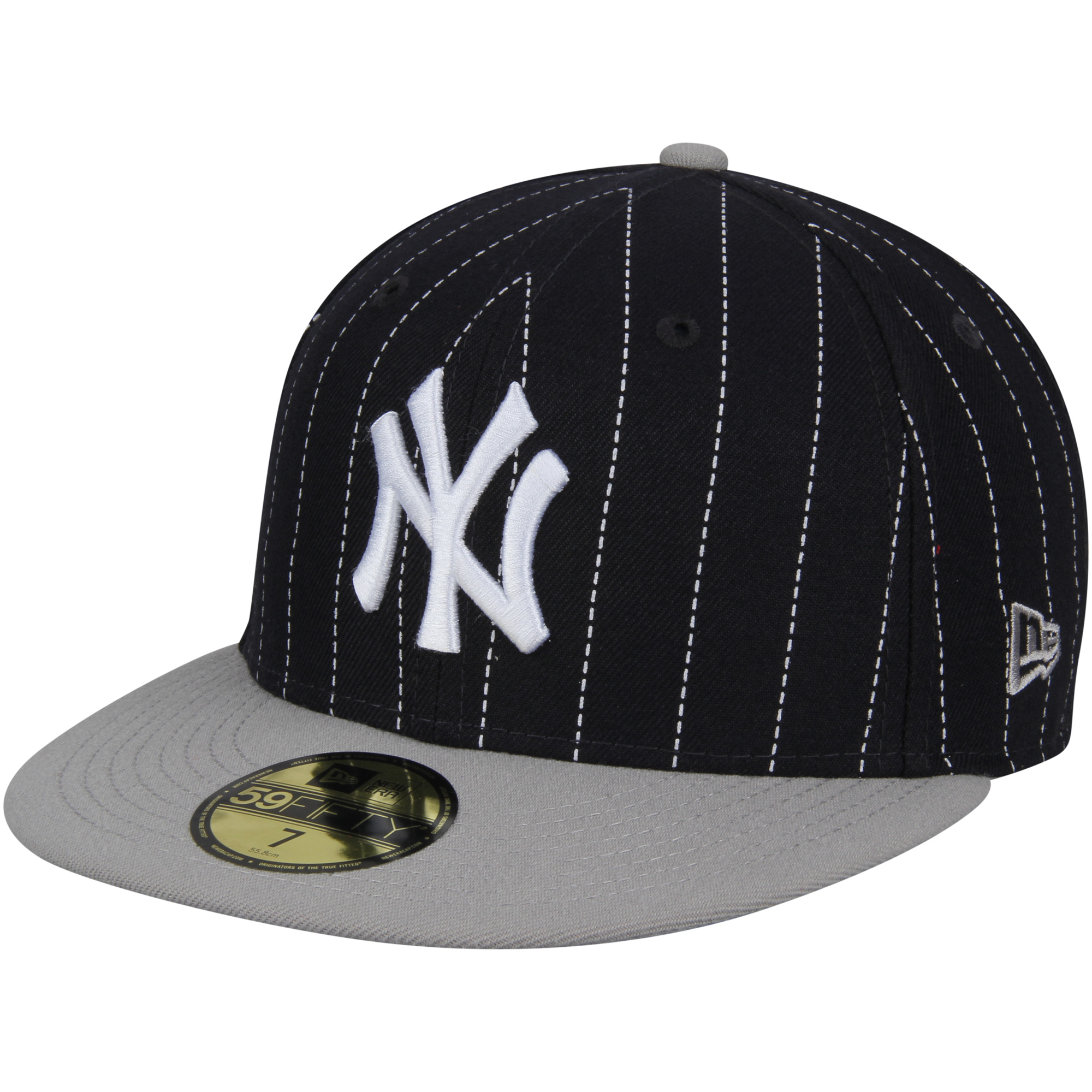 Men's New Era Navy New York Yankees Y2K Pinstripe 59FIFTY Fitted Hat