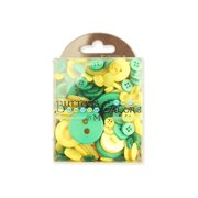 Buttons Galore Button Tote 3.5oz Green & Yellow
