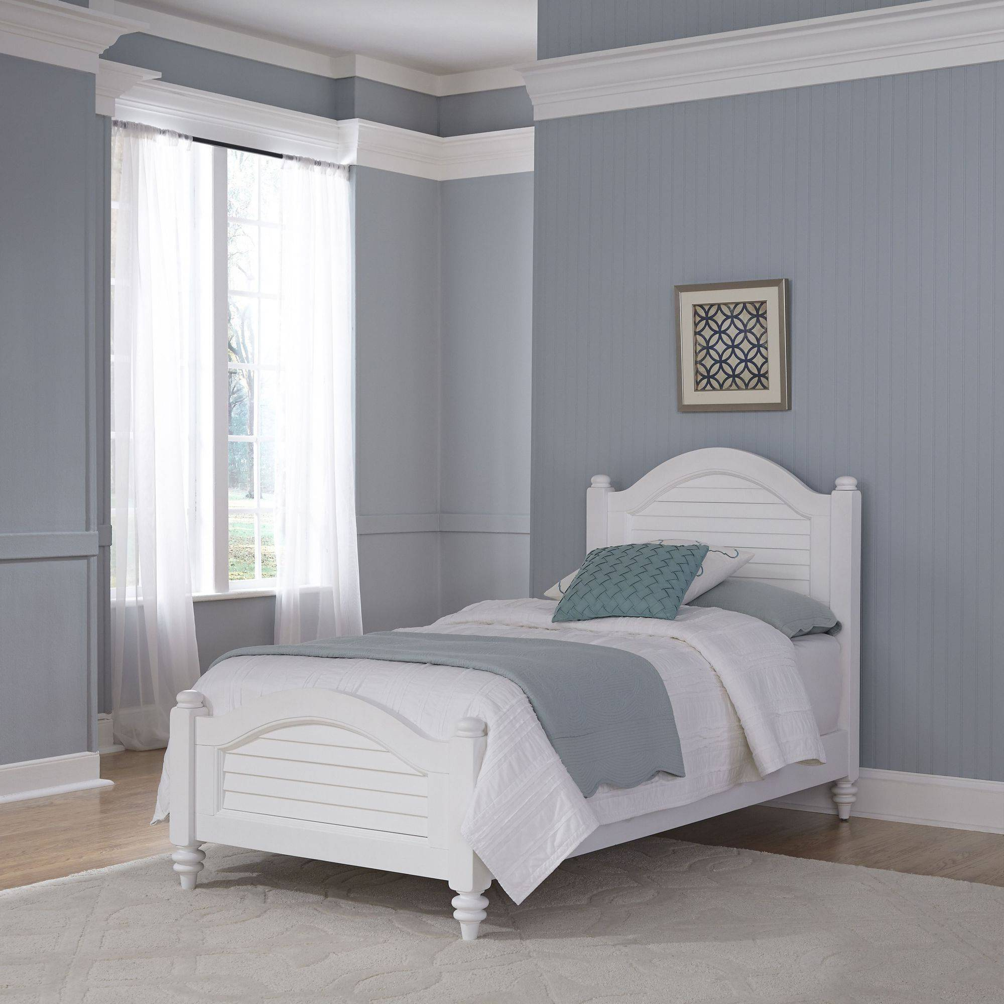 Home Styles Furniture Bermuda Brushed White Twin Bed