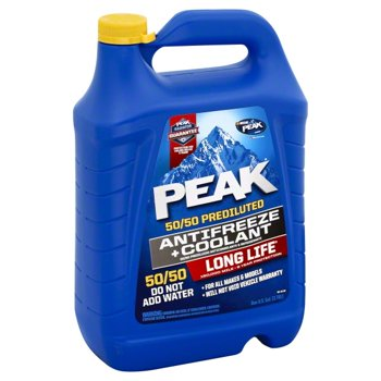 PEAK Long Life 50/50 Prediluted Antifreeze and Coolant, 1 Gallon