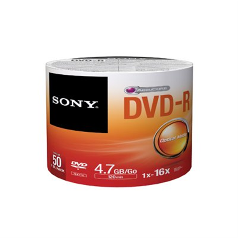 Disc, DVD-R, 4.7GB for General use,50/pk Retail Wrap, No Cakebox [Non - Retail Packaged]
