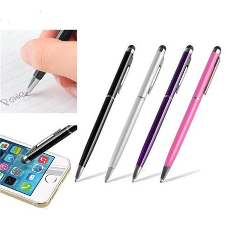 Insten 4X 2in1 Capacitive Touch Screen Stylus with Ball Point Pen For iPhone 7 7S 8 6 6S Plus X iPad Air Mini Pro Tablet Samsung Galaxy Tab E A S2 LG G Pad RCA Ematic HIGHQ Sprout Channel Dragon