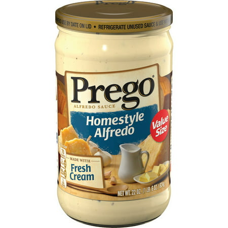 (2 Pack) Prego Homestyle Alfredo Sauce, 22 oz.