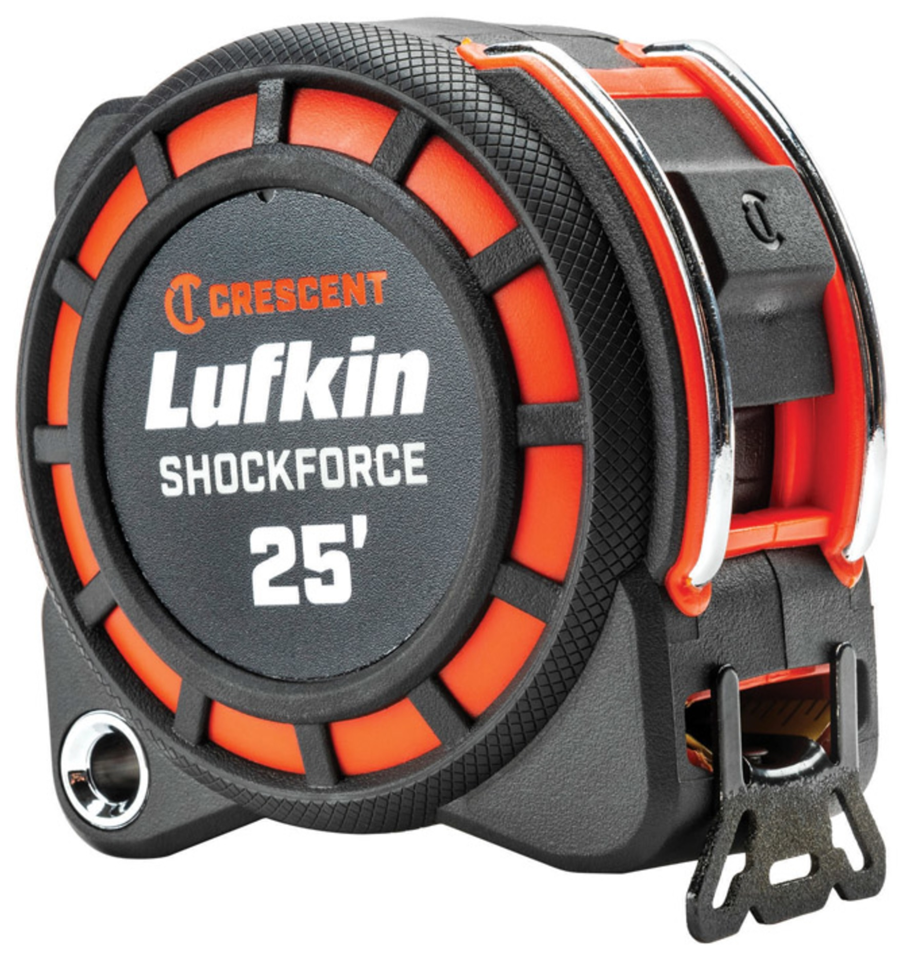 Crescent L1125 Lufkin ShockForce Tape Measure, Black/Red