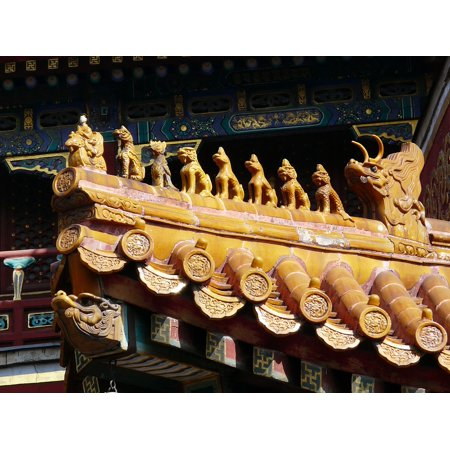 LAMINATED POSTER Decoration Roof Chinese Dragon Asia Culture China Poster Print 24 x 36