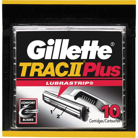 Gillette TRAC II Plus Razor Blade Refill Cartridges, 10 - Plus 2 Cartridges