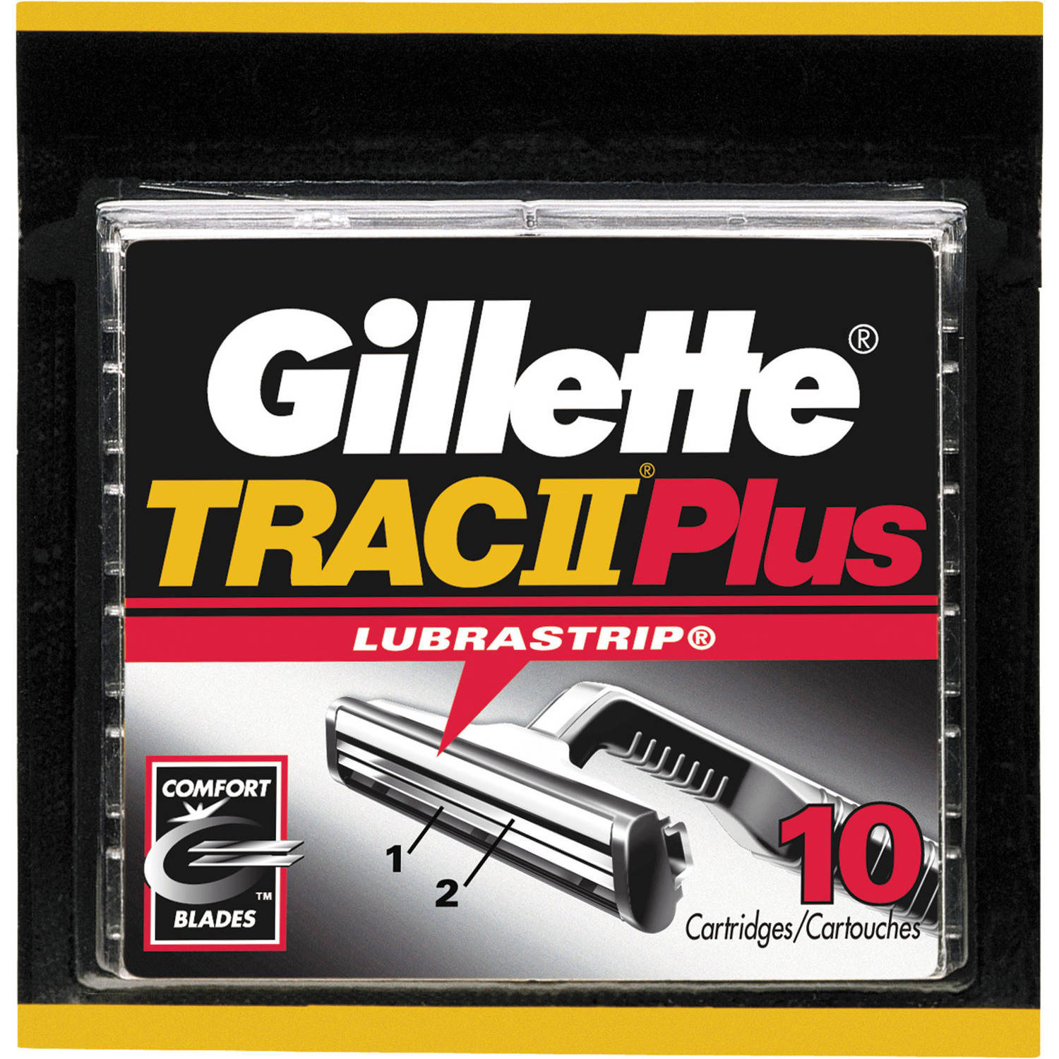 Gillette TRAC II Plus Razor Blade Refill Cartridges, 10 Count