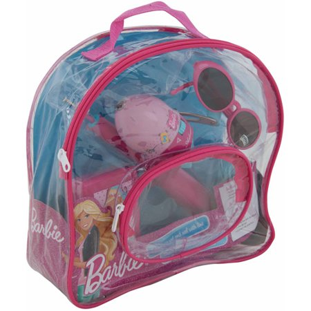 Shakespeare mattel barbie backpack fishing kit for Barbie fishing pole