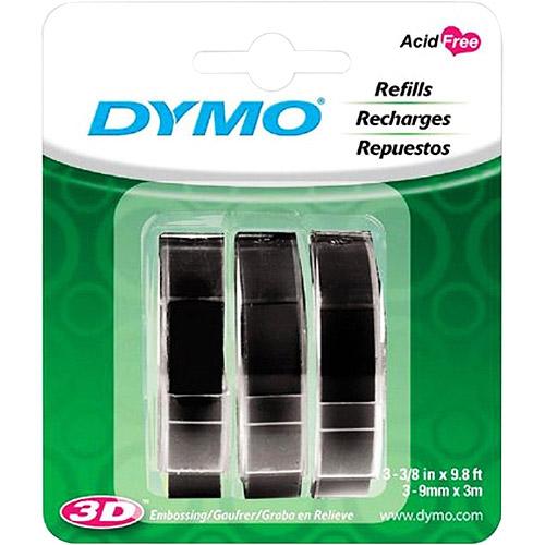 DYMO Black Embossing Tape, 3-pack