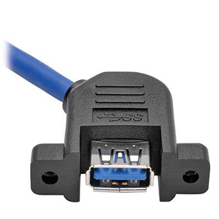 TRIPP LITE USB 3.0 Superspeed Panel Mount Type-A Extension Cable M/F 1` (U324-001-APM) - image 3 de 4