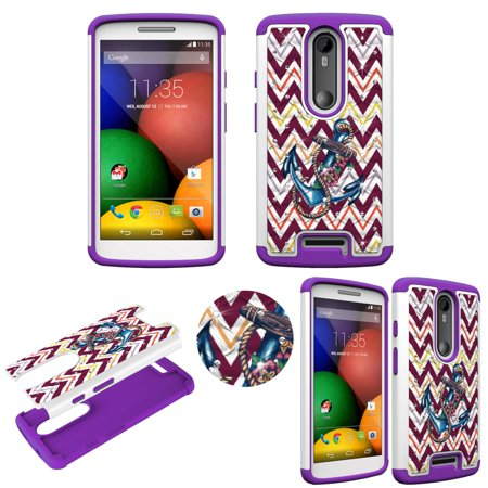 Hybrid Anchor on Chevron Crystal Diamond for Motorola Droid Turbo 2 Ultra Shock Proof Lightweight Case Drop Protective  TPU+PC Bling Case Shock Absorb Enhanced Bumper Dual Layer Designer