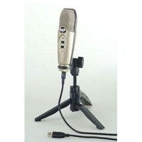 USB Large Diaphragm Cardioid Condenser Microphone with Tripod Stand, 10' USB Cable