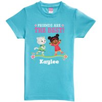 Personalized Daniel Tiger's Neighborhood Friends Toddler Girl Aqua Fitted Tee