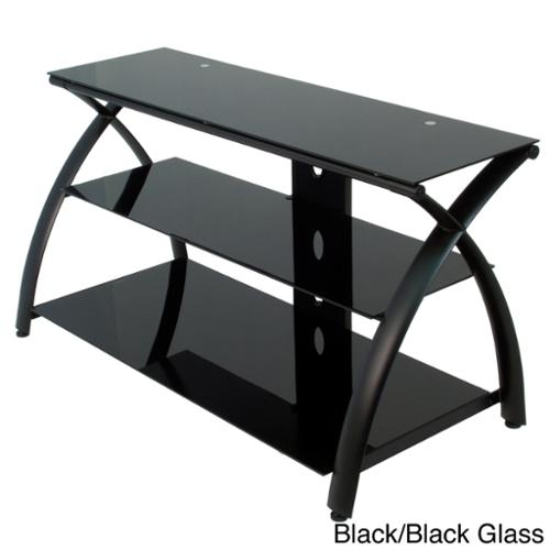 Calico Designs Futura TV Stand Black/Black Glass