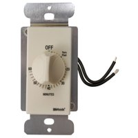 Woods 59718 Decora Style 60-Minute Timer, Mechanical Wall Switch, Light Almond