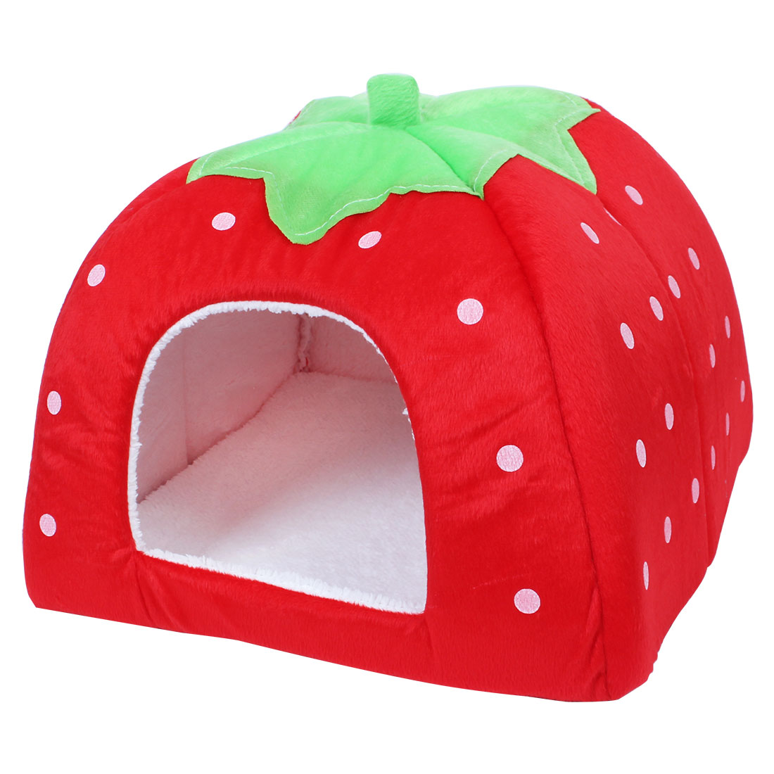 Foldable Strawberry Pet Dog Cat Bed Doggy Kennel House Puppy Basket Pat L