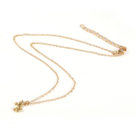Nickel-free Alloy Pendant Necklace With Unicorn Shape Pendant for Women & Girl - image 1 of 10