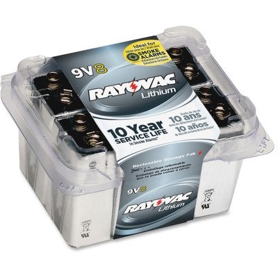 rayovac r9vl 8 9 volt lithium battery rayr9vl8. Black Bedroom Furniture Sets. Home Design Ideas