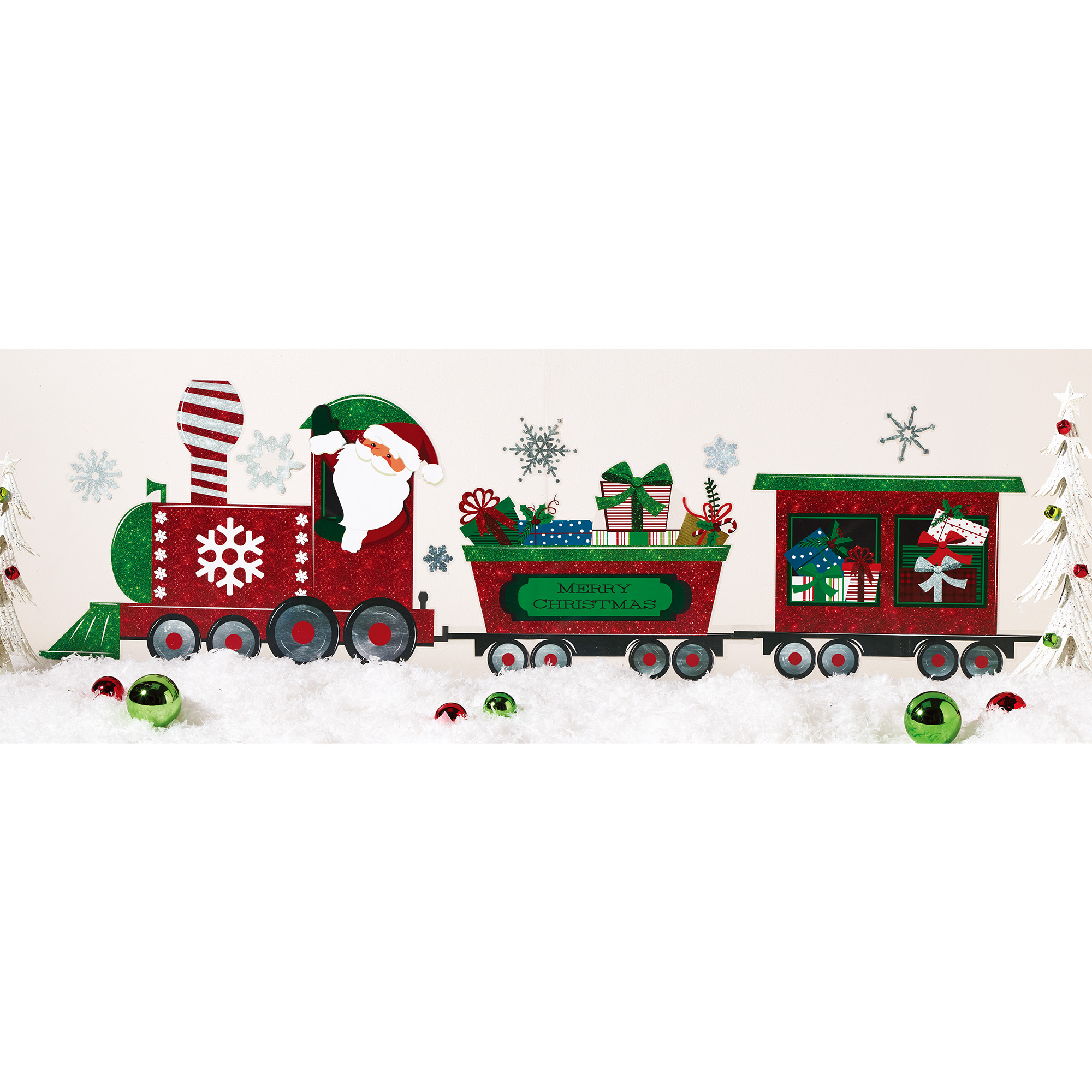 Train Wall Art holiday time build a train wall art, 39 x 27.5 inch - walmart