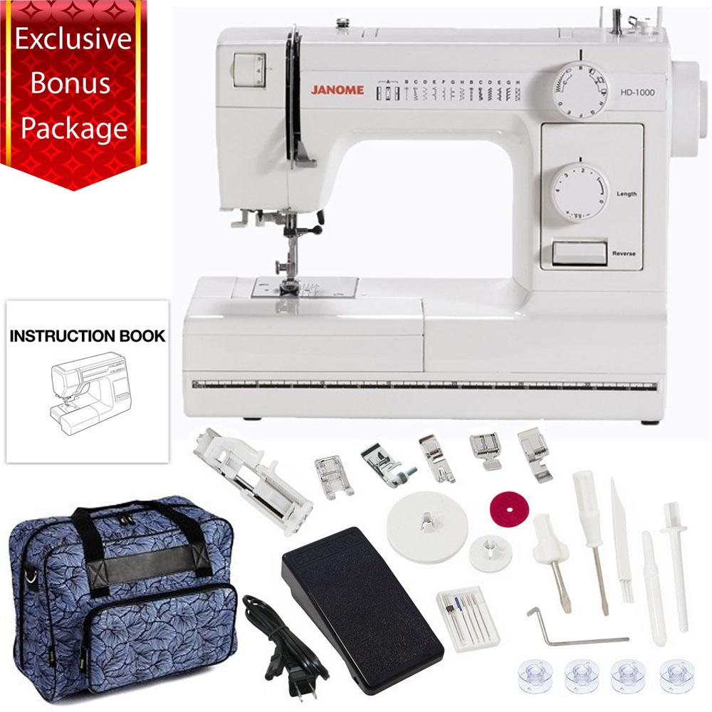 Janome HD1000 Mechanical Sewing Machine w/ Bonus Package!