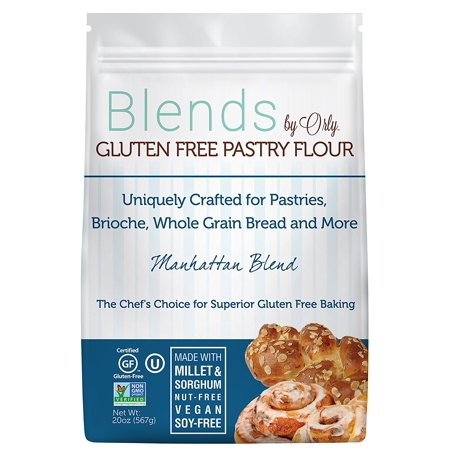 Premium Gluten Free Pastry Flour | Gluten Free Donut Flour - Baking Flour for Gluten Free Challah Bread, GF Brioche Bread, GF Cinnamon Roll & Gluten Free Bagels from Manhattan Blends by Orly 20 (Best Flour For Pastry)