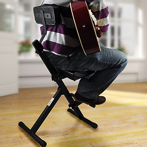 musician performer chair seat stool durable portable adjustable