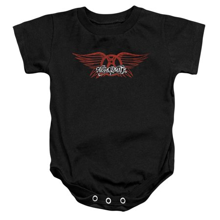 Image of Aerosmith/Winged Logo Infant Snapsuit Black (24 Mos) Aero101