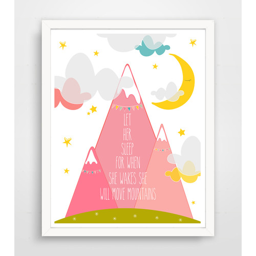 Finny and Zook Let Her Sleep For When She Wakes She Will Move Mountains Paper Print