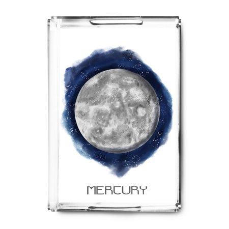 Mercury - Watercolor - Lantern Press Artwork (Acrylic Serving Tray) ()