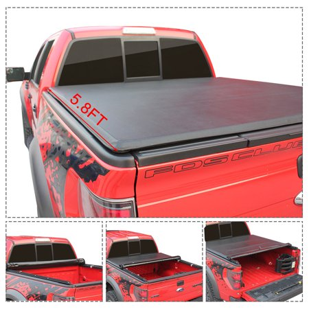 Gymax Roll Up Truck Bed Tonneau Cover For 2009 2018 Dodge Ram 1500 5 8ft Bed Black Walmart Canada