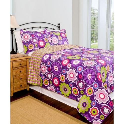 Pegasus Home Fashions Slumber Shop Karlie Reversible 3-piece Quilt Set
