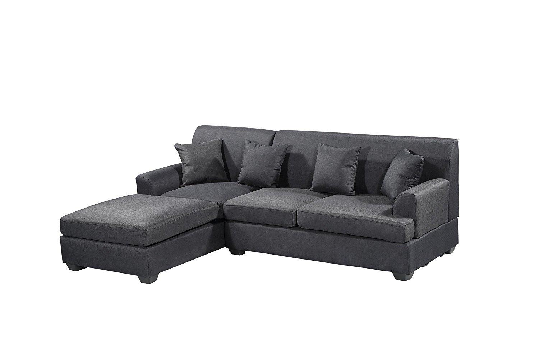 Peachy Homelife Large Dark Grey Modern Upholstered Sectional Sofa Uwap Interior Chair Design Uwaporg