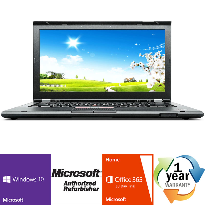REFURBISHED Lenovo ThinkPad T430 i5 2.6GHz 8GB 320GB DRW Windows 10 Pro 64 Laptop Computer