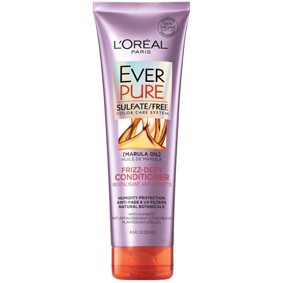 L'Oreal Paris EverPure Sulfate Free Frizz-Defy Conditioner, 8.5 fl. oz.